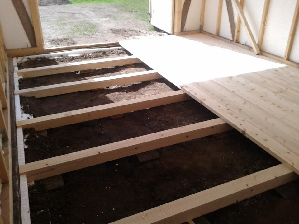 как сделать деревянный пол в дачном доме технология Чульман: