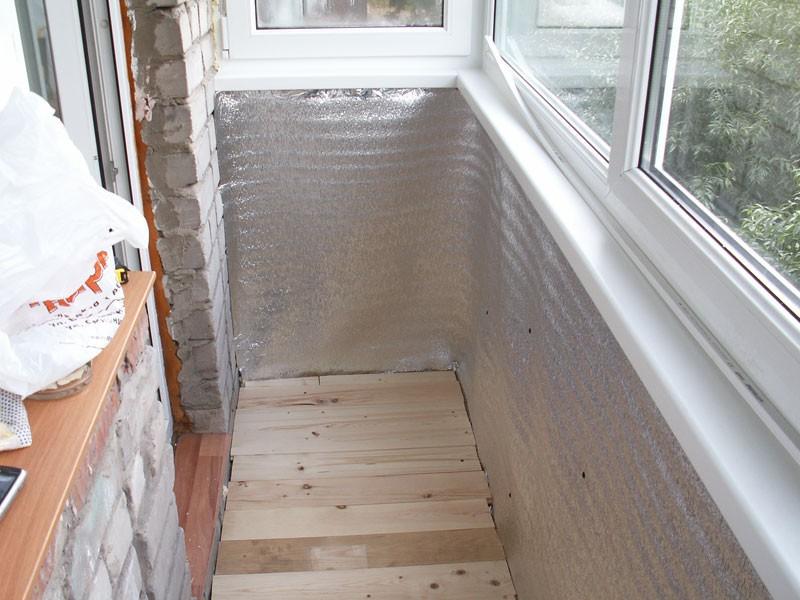Своими руками ремонт балкона утепление.