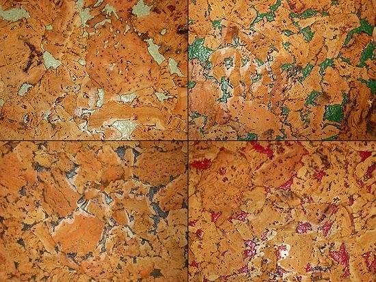 Некоторые оттенки пробковых покрытий