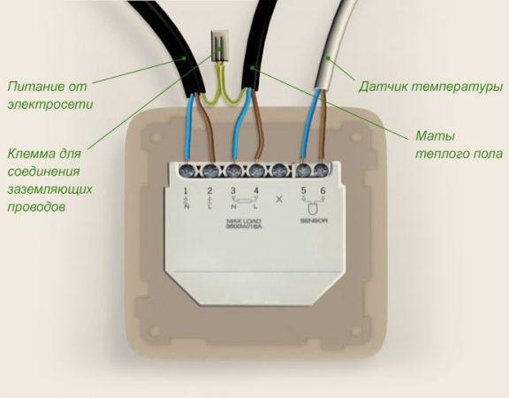 Обратите внимание на цвет проводов