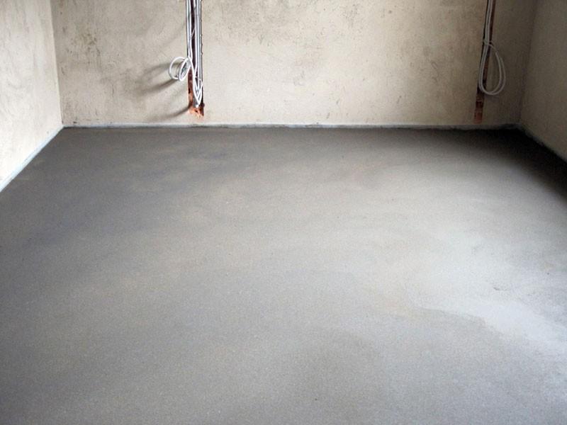 заливка полов песчано цементным раствором