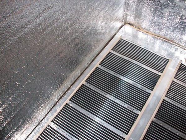 Пример обустройства теплого пола на балконе