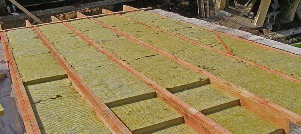 Пример правильной многослойной укладки плит минваты