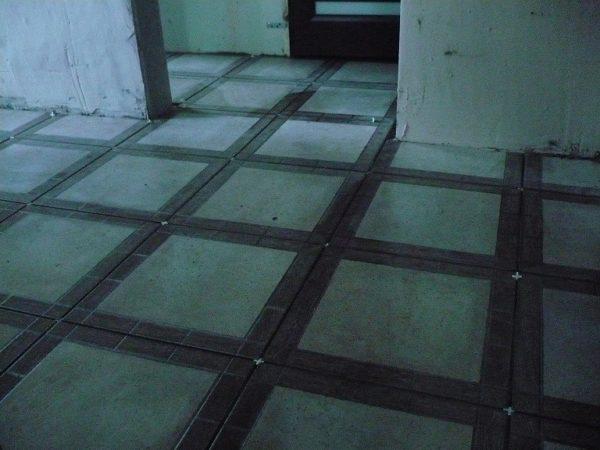 Пример укладки напольной плитки