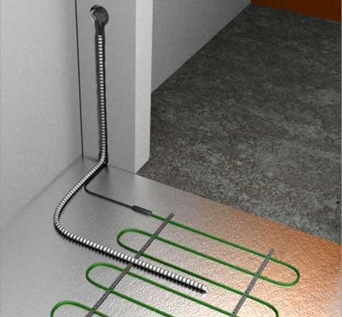 Проложите провода в гофре