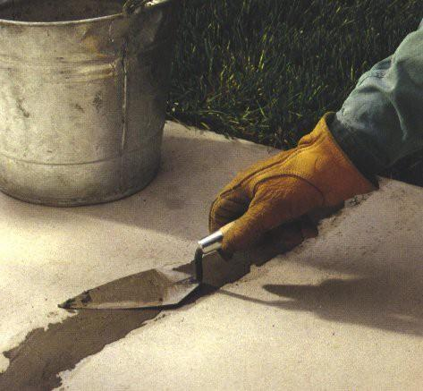 Ремонт глубокой трещины в бетонном полу