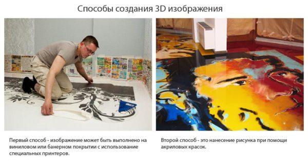 Способы создания рисунка для укладки под наливной пол
