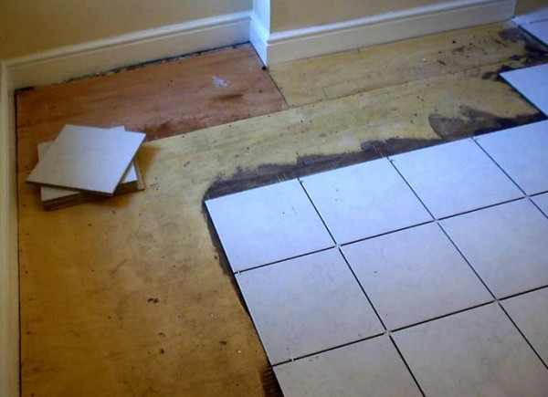 Укладка плитки на деревянное основание