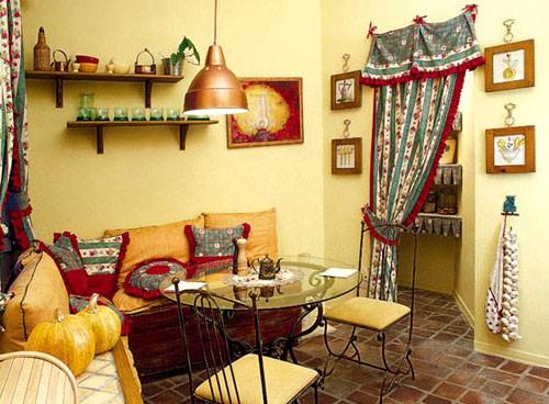 Уютный интерьер в стиле Кантри