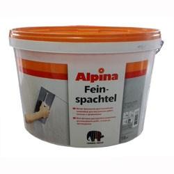 Финишная шпатлевка Alpina Feinspachtel для обработки стен и потолков из гипсовых плит, бетона