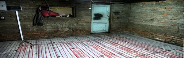 Электрический теплый пол в гараже. Пример