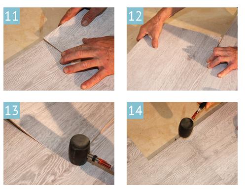 Укладка пробкового покрытия
