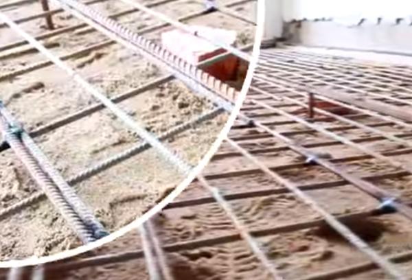 Армирование - важный этап в обустройстве бетонного пола в гараже
