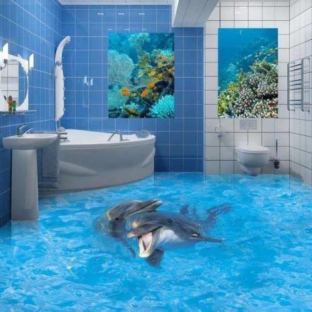 3д полы в ванной