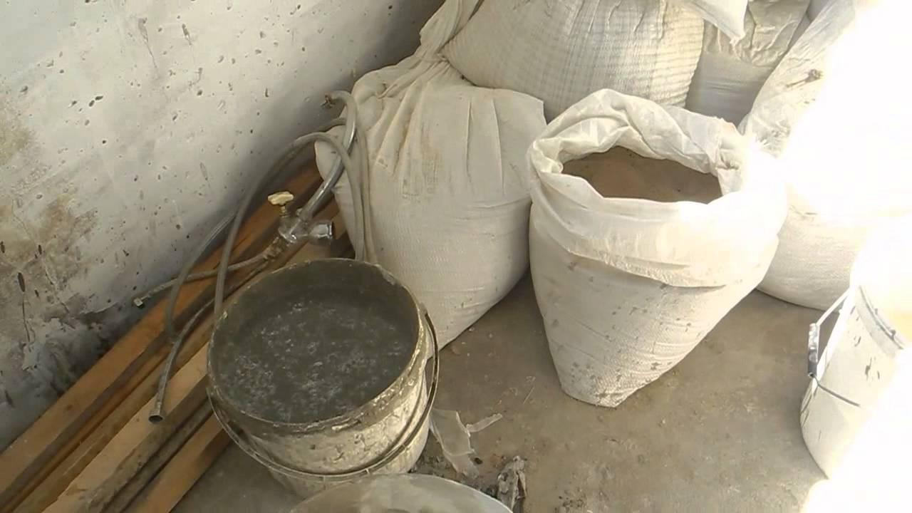 Раствор для стяжек цементных бетон расчет щебня