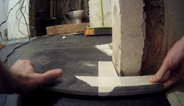 Укладка обрезанной плитки