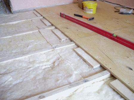 Крепление фанеры, использован утеплитель