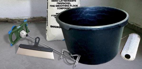 Материалы и инструменты для заливки наливного пола своими руками