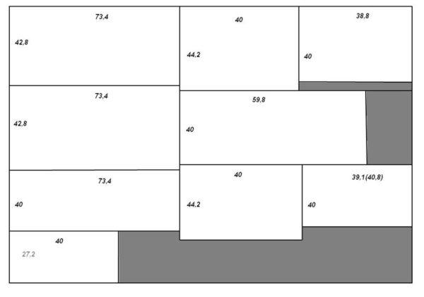 Пример схемы раскро
