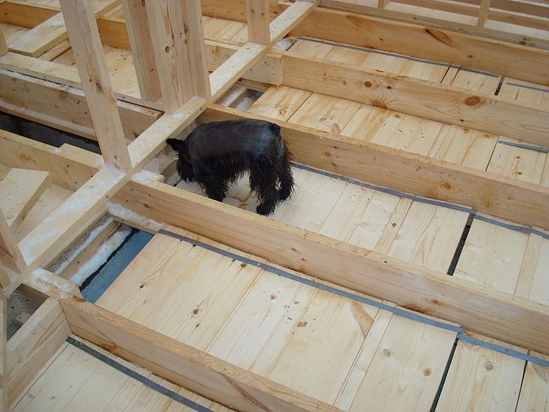 Как утеплить пол в деревянном доме. Двойная 99