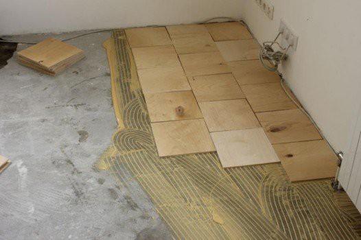 Укладка фанеры на бетонный пол под ламинат