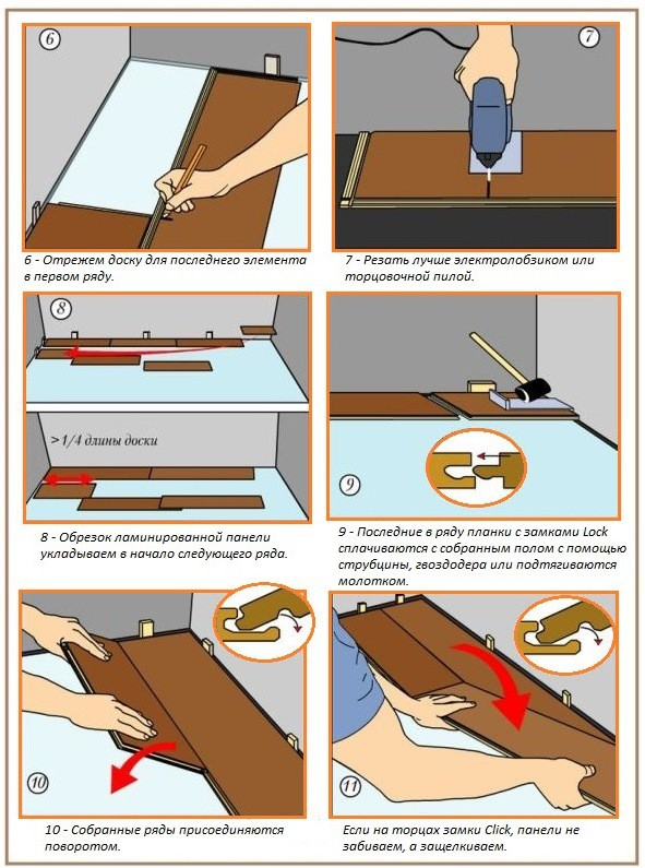 Технология укладки ламината, часть 2