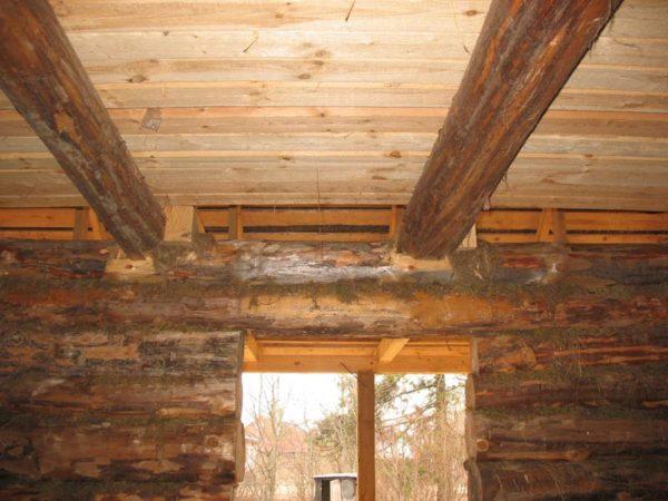 На фото пример потолочного перекрытия