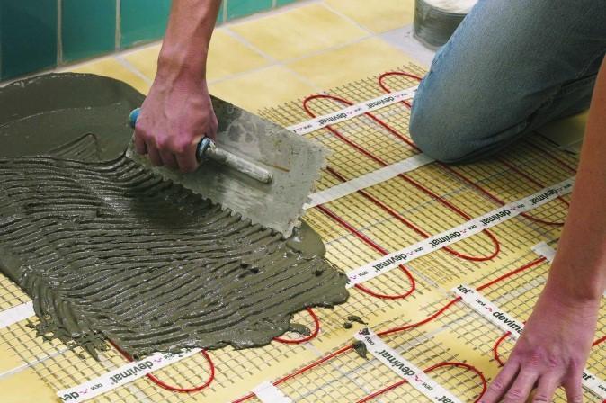 Греющие маты идеально подходят для плиточных покрытий