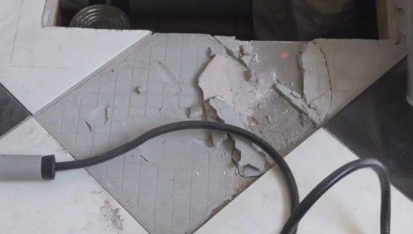 Шаг 3 – демонтаж покрытия