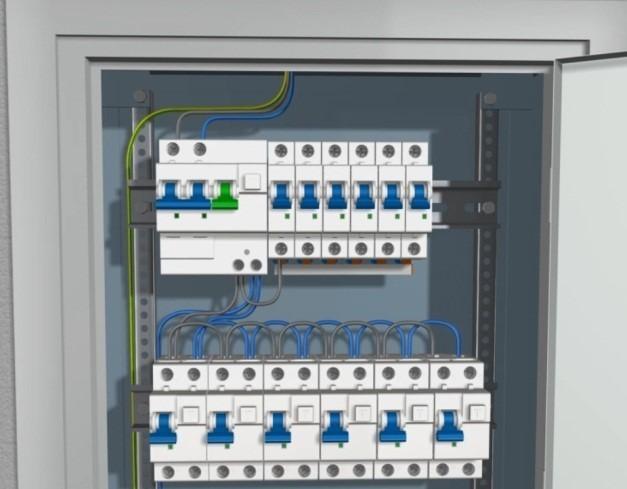 Шаг 1 – установка питающего кабеля
