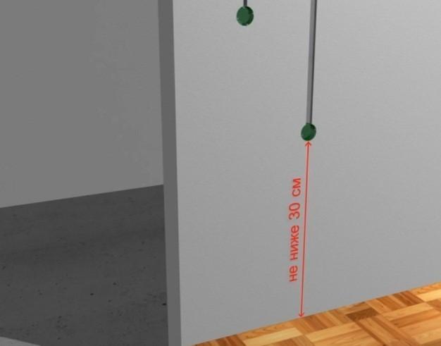 Шаг 2 – подготовка шроб под питающий кабель