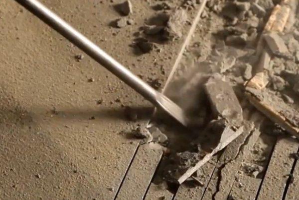Шаг 3 – выемка бетона