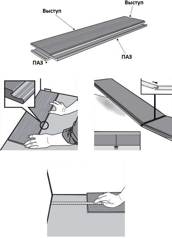 Как укладывать замковую кварцвиниловую плитку