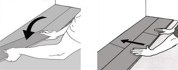 Одна плитка должна вставляться в другую