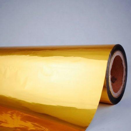 Пленка из полиэтилена со слоем ламинации и металлической фольги