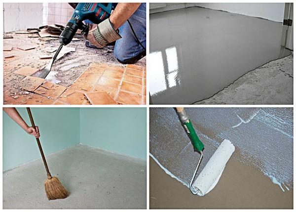 Перед кладкой плитки нужно подготовить поверхность