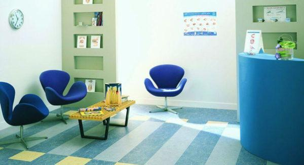 В офисах или иных помещениях можно использовать коммерческий линолеум с различными принтами