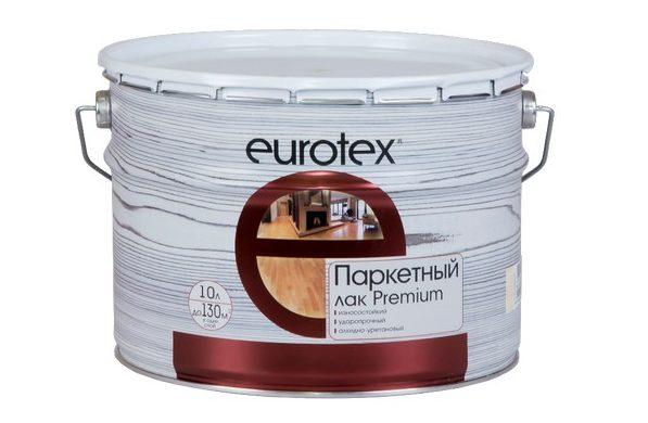 Лаки для паркета EUROTEX отличаются высоким качеством