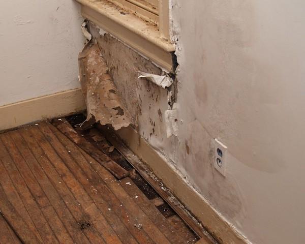 Высокая влажность в помещении часто становится причиной гниения нижней стороны покрытия