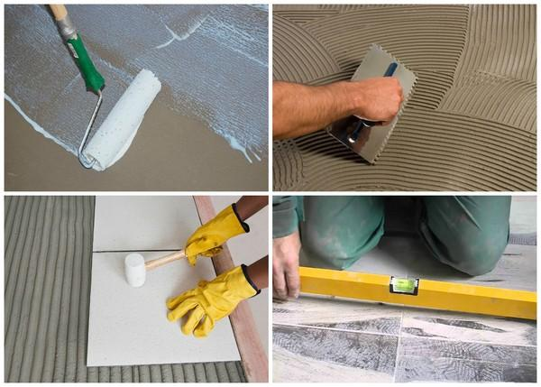 Важно, чтобы плитка хорошо фиксировалась на клею