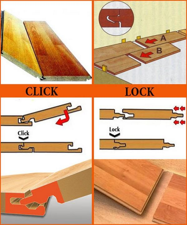Есть два вида крепления ламината – Click и Lock