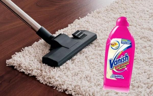 Средство от Vanish отлично очищает ковры