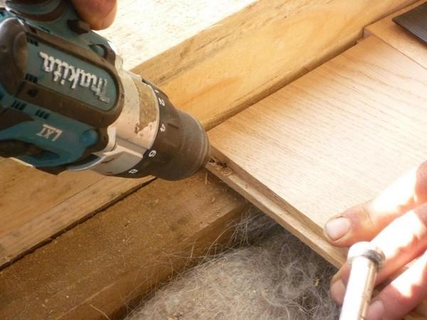Шпунтованные доски могут укладываться прямо на деревянные лаги чернового пола